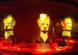 商代青铜面具,四川省成都市, 三星堆