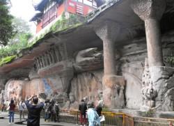 斜倚佛像,重庆大足石刻 5000座石刻雕像里面其中的一座