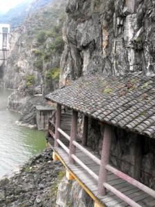 陕西省秦岭的石门栈道景区的褒斜道,中国最早的水库