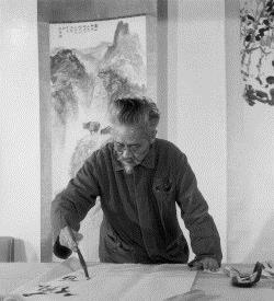 石鲁绘画莲花,1981. 图片由石鲁家人提供