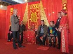 来自新西兰朋友的诚挚祝福。Dave Bromwich在Wang Fang和Ye Xi's婚礼的讲话。