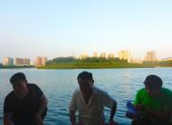 在福建省厦门市Yundang湖,完成问卷调查